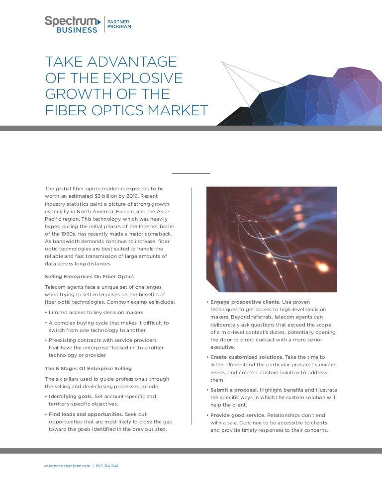 Take Advantage Of The Explosive Growth Of The FiberOptics