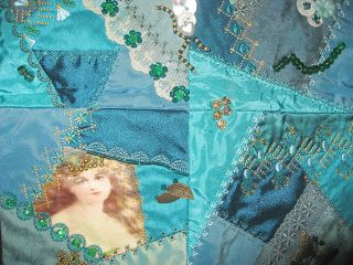 Vicki's Fabric Creations: Crazy Patch Quilt