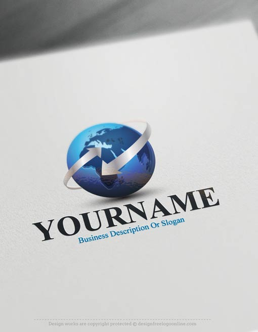 Create Your Own 3D Logo with Eco Globe Logo Templates