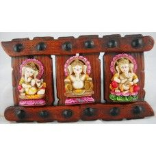 Instrument Ganesha Set of 3 Door / Wall Hanging