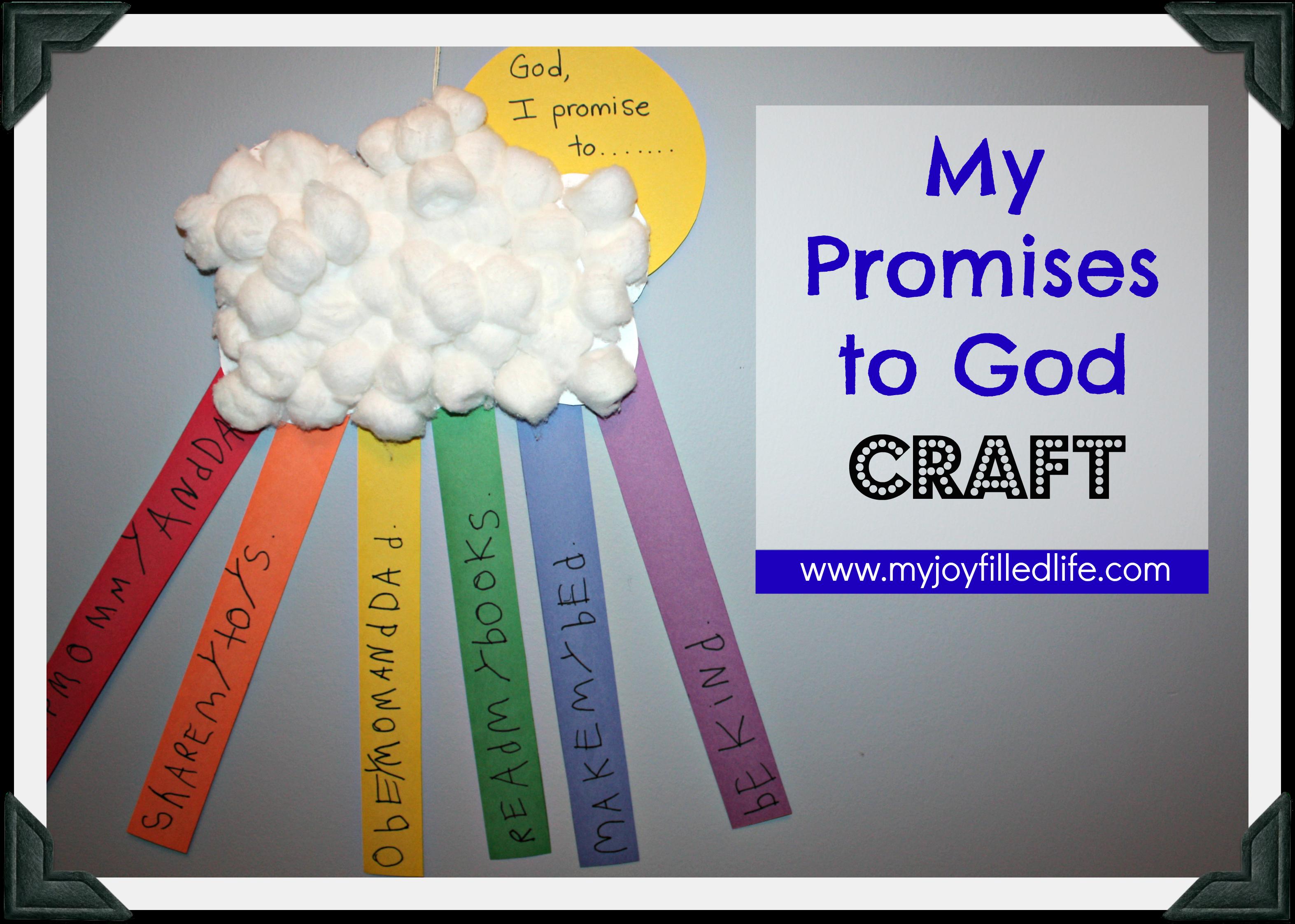 My Promises To God Craft