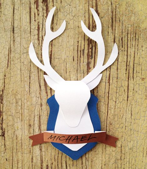 DIY Make A Big One For Wall Deer Mount.or A Paper Deer Mount For Card  Making, Scrapbooking, Gift Toppers, And More!