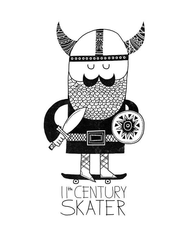 http://society6.com/product/11th-Century-Skater-White_Print