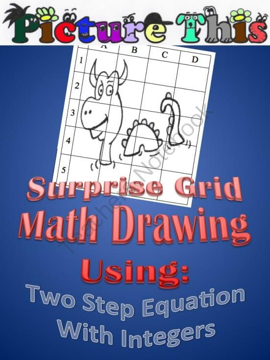 Picture This Grid Drawing Two Step Equations With