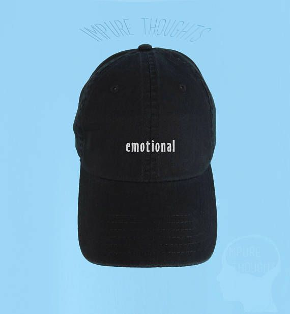 7a308e895d5 EMOTIONAL Dad Hat Embroidered Baseball Cap Low Profile