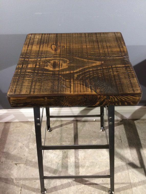industrial modern antiqued oak bar stool liked by jakobe