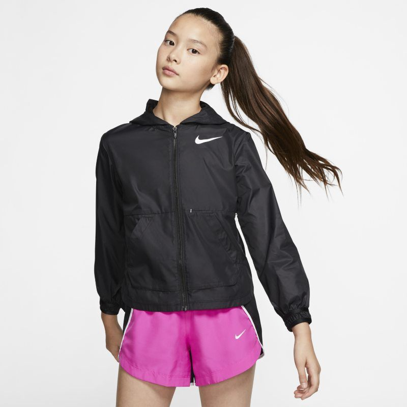 referir Oral Miseria  Nike Older Kids' (Girls') Training Jacket - Black in 2020 | Girls jacket,  Black zip ups, Jackets
