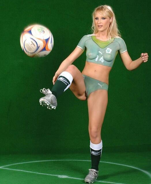 Something body paint women soccer team
