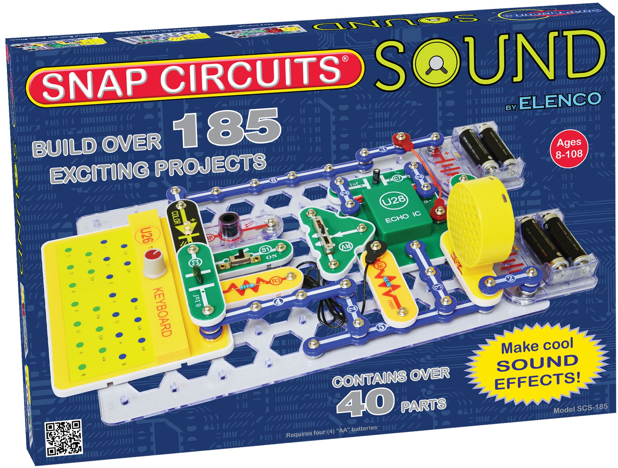 Snap Circuits Sound Kit Complete Wiring Diagrams Electronic Circuit Model Scs 185 Educational Rh Pinterest Com Replacement Parts