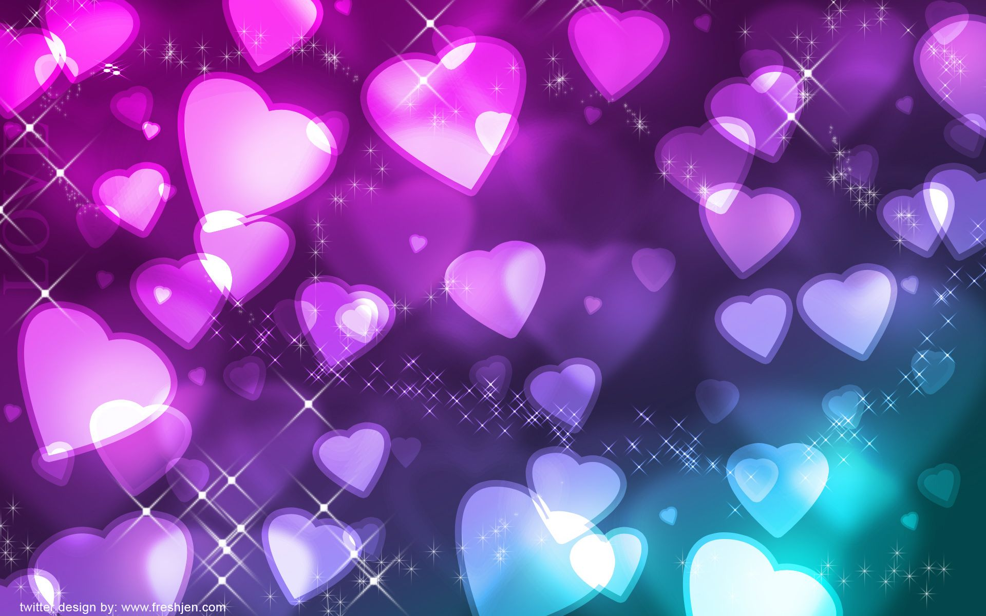 Free Twitter Backgrounds Heart Wallpaper Hd Heart Wallpaper Colorful Heart
