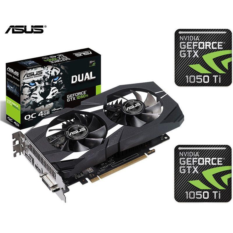 Asus Gtx1050ti Dual 4gb Vga Graphic Card Oc Edition Esports Gaming Nvidia Geforce Dual Gtx1050ti O4g V2 Personal Computer Center Graphic Card Esports Games Nvidia