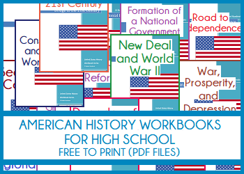United States History Workbooks For High School Free To Print Pdf Files Workbook State History United States History