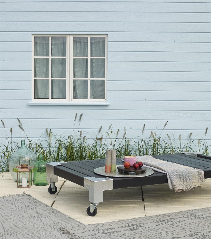 Cubic daybed gartenbett bett liege sonnenbett sonnenliege in garten terrasse m bel liegen - Daybed garten ...
