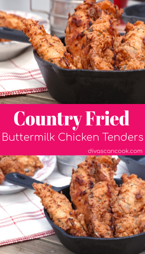 Country Fried Buttermilk Chicken Tenders Recipe Chicken Tender Recipes Buttermilk Chicken Buttermilk Chicken Tenders