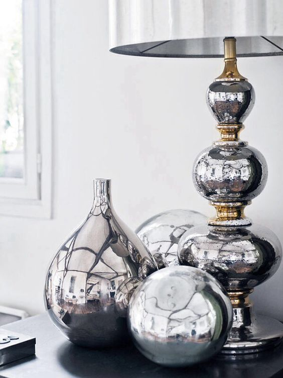 Love These Silver Accents Homedecor Homeaccents Homedesign Decor Homesweethome Homestyle De Silver Decor Home Decor Accessories Decorative Accessories