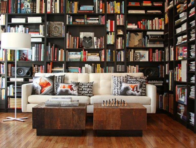 17 Functional Modern Home Library Designs For All Book Lovers ...