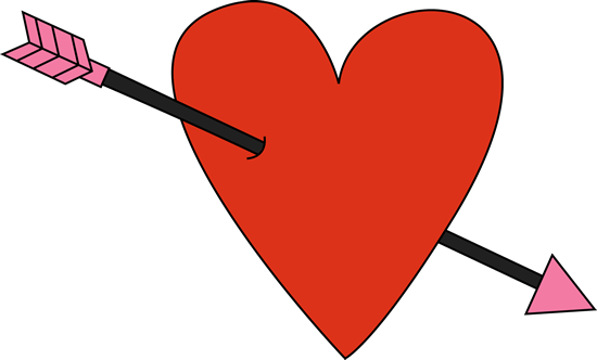 Red Valentine S Day Heart And Arrow Valentines Day Hearts Valentines Arrow Image