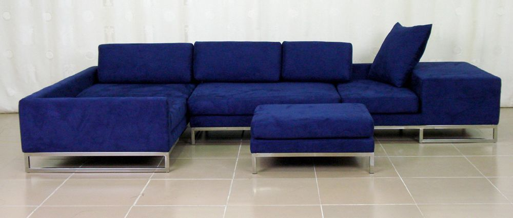 Royal Blue Lounge Sofa