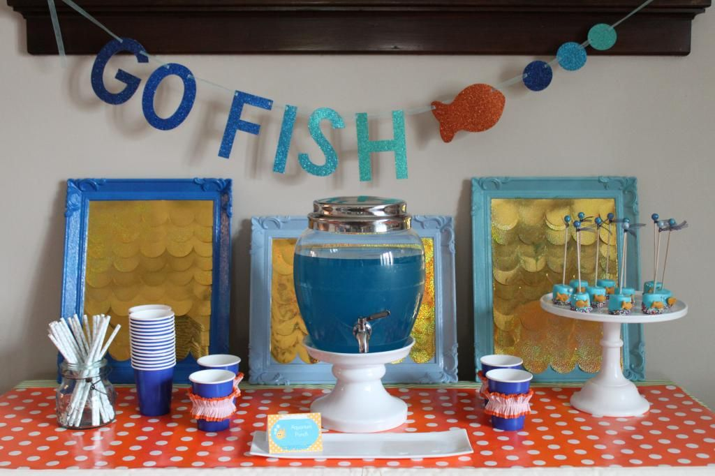 Go Fish Birthday Party Goldfish party Birthdays and Party party