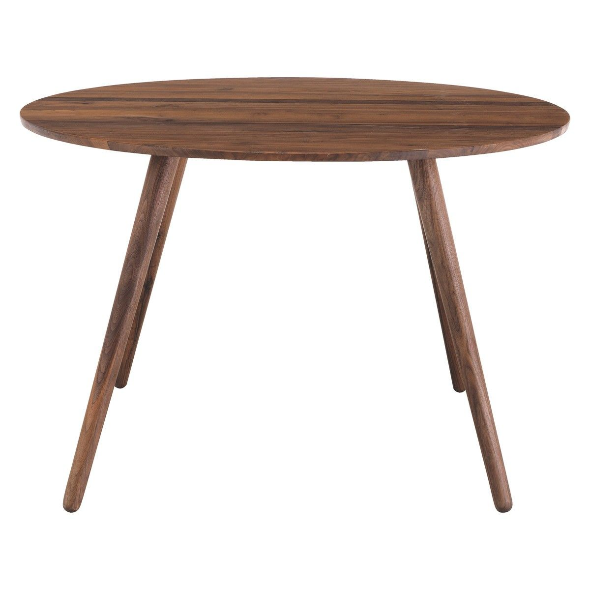 Round walnut dining table - Vince 4 Seat Round Walnut Dining Table