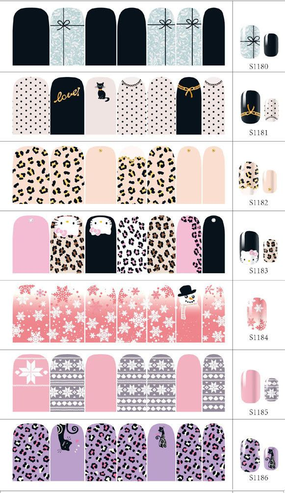 6 sheet 3d design tip diy nail art nail sticker nail decal christmas halloween nail tools