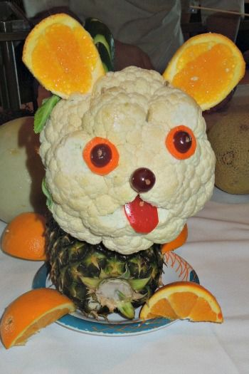 Fruit vegetable animal creations animals