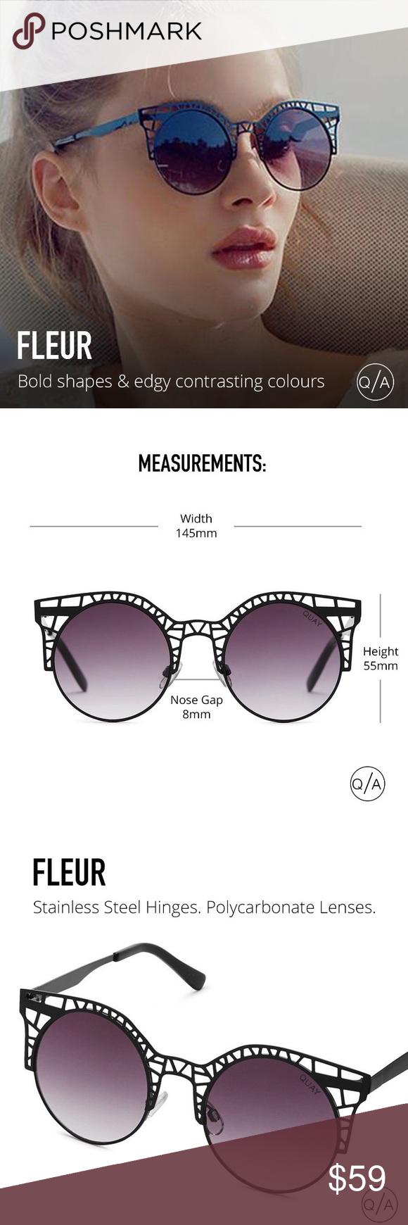 86b3f1e002 NWT Quay Australia Fleur Cat Eye Sunglasses ➖NWT ➖BRAND   Quay Australia  ➖STYLE