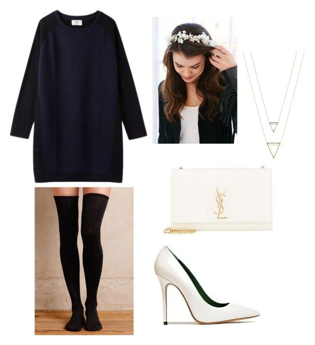 """""""SMLH"""" by ashleyarrasco on Polyvore featuring Belleza, Hansel from Basel, Acne Studios, Yves Saint Laurent y Urban Outfitters"""