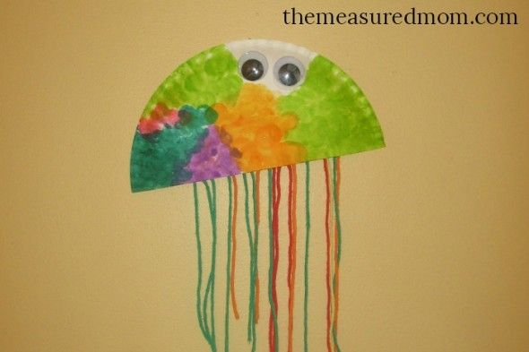 Check out our five fun letter J crafts for preschoolers! The paper plate jellyfish was & Letter J Crafts | Paper plate jellyfish Craft and Preschool class