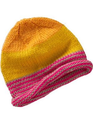 Pink and orange knit hat from Old Navy.