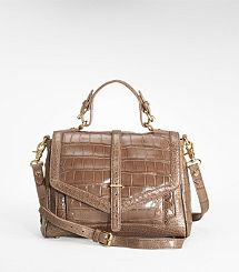 Tory Burch 797 Crocodile Satchel is made from genuine crocodile. Priced at $7,950, it is truly a statement piece.