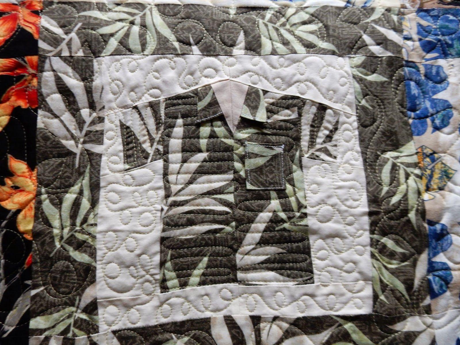 Hawaiian shirt quilt...   Machine quilting inspirations ... : hawaiian shirt quilt pattern - Adamdwight.com