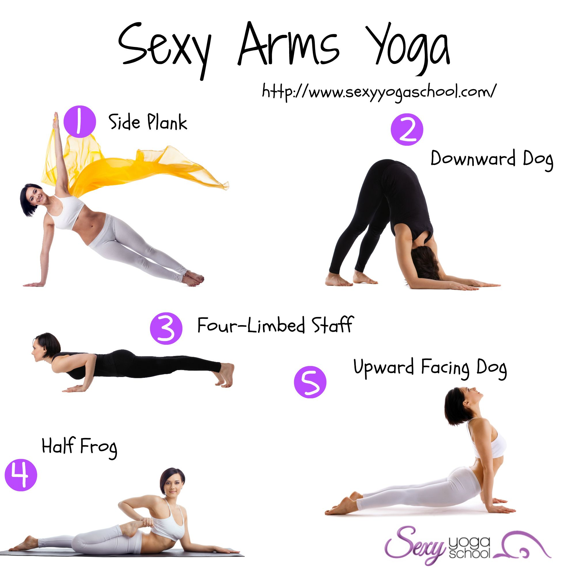 Do these #yoga moves to have slim arms. Get ready for summer! | ❤ ❤