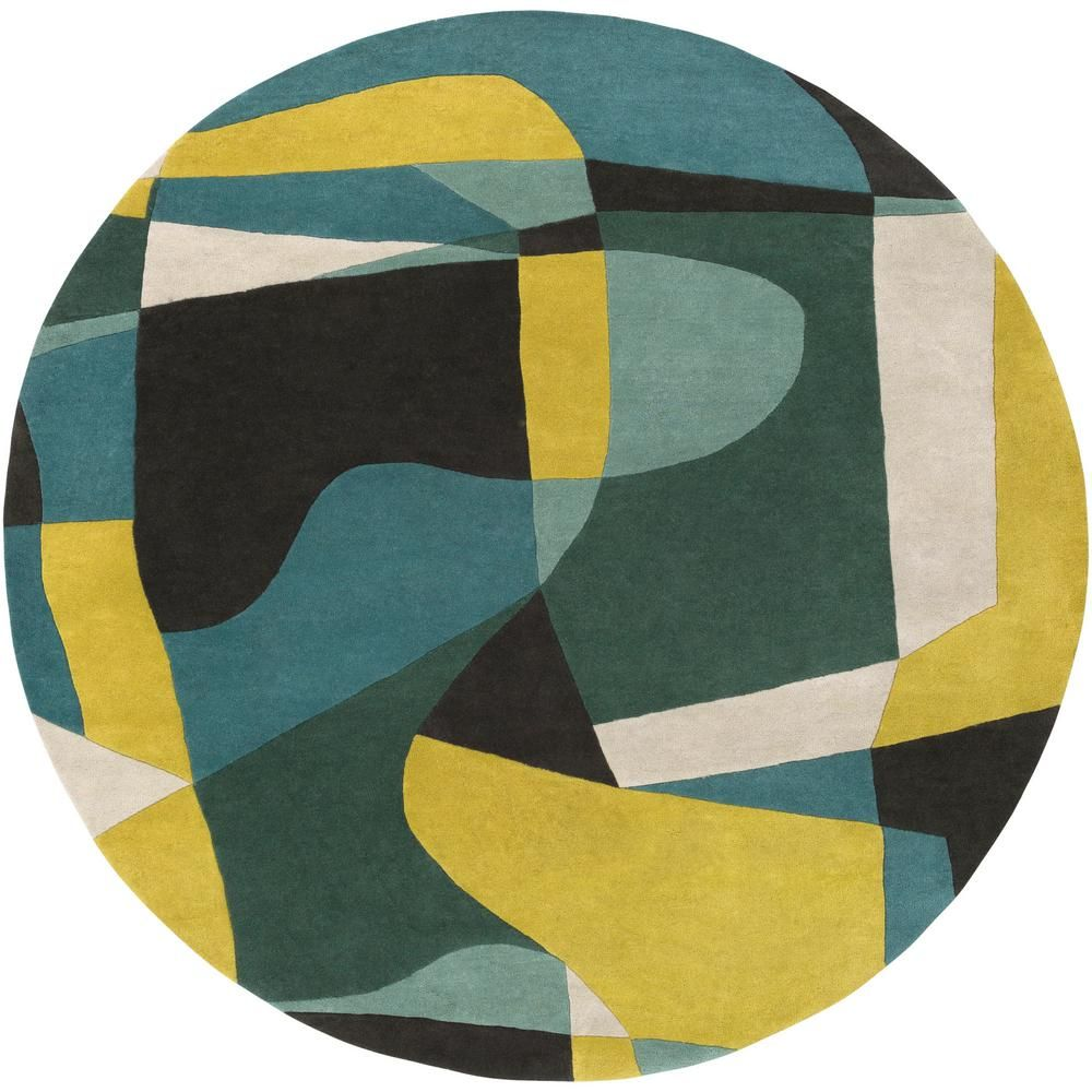 Artistic Weavers Tellis Lime 8 Ft X 8 Ft Round Area Rug