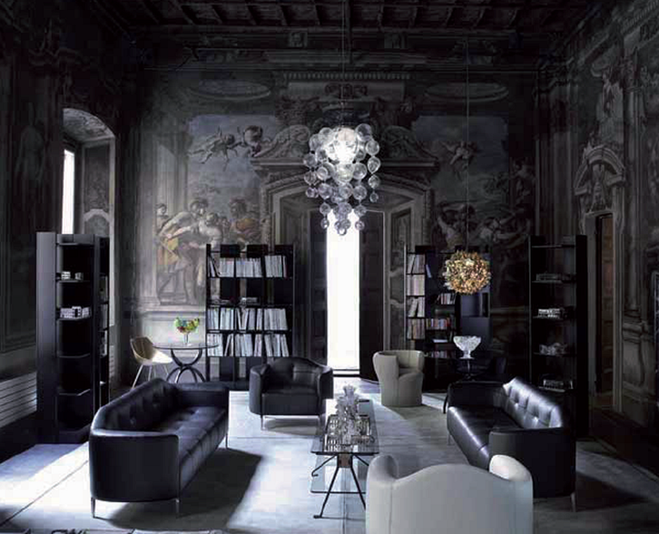 45 Gothic Living Room Design Ideas For Your Hallowen Day ...