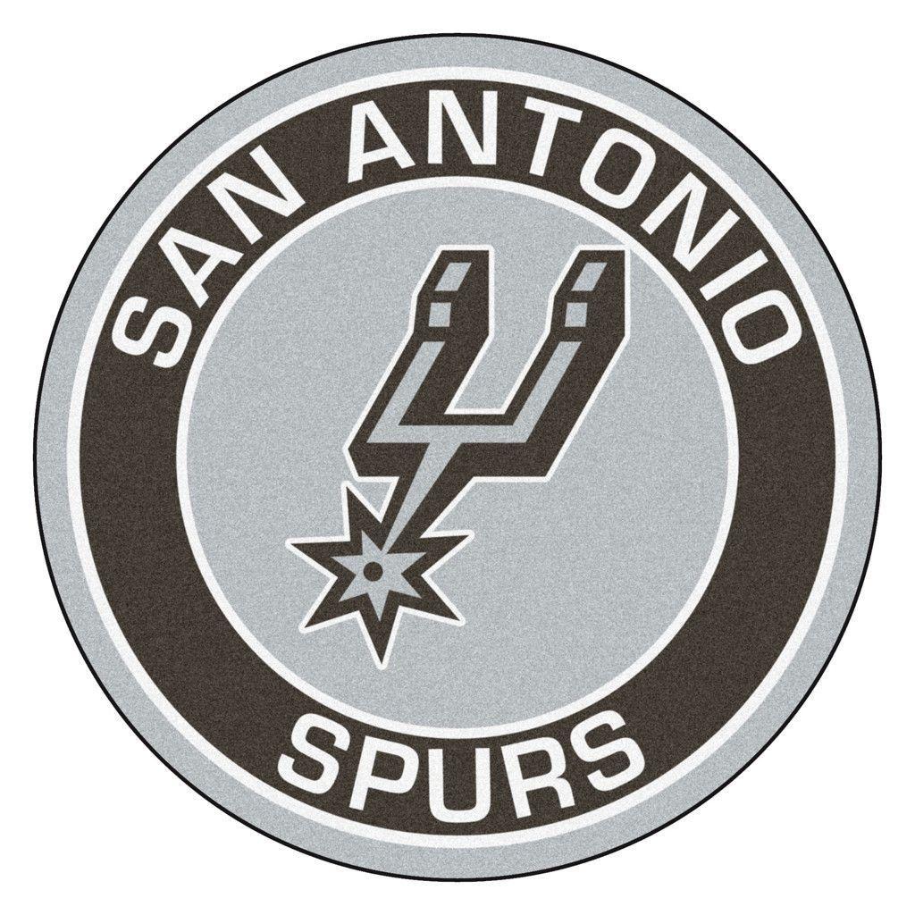 San Antonio Spurs Team Emblem Throw Rug San Antonio Spurs Spurs Team Emblems