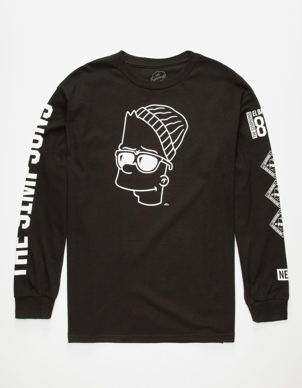 cbc20535 NEFF x The Simpsons Steezy Bart Mens T-Shirt 263211100 | L/S & Baseball Tees