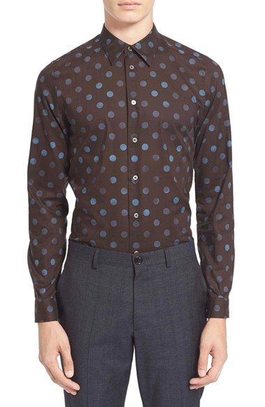PS Paul Smith Extra Trim Fit Polka Dot Shirt