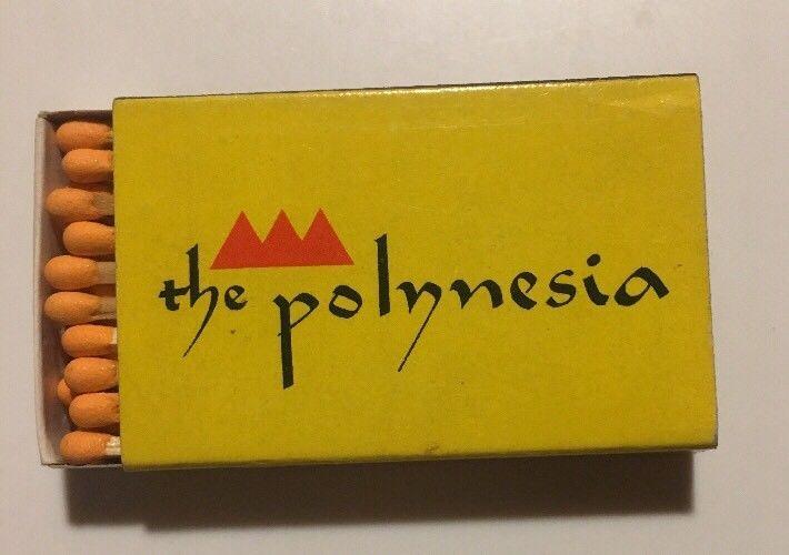 The Polynesia Vintage Box Of Matchsticks Matchbook Seattle Spokane