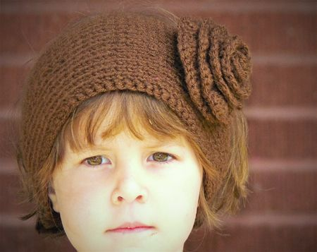 A Free Pattern For A Knit Ear Warmer Pattern With Flower The Flower