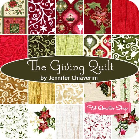 The Giving Quilt Fat Quarter Bundle Jennifer Chiaverini for Red ... : the giving quilt book - Adamdwight.com