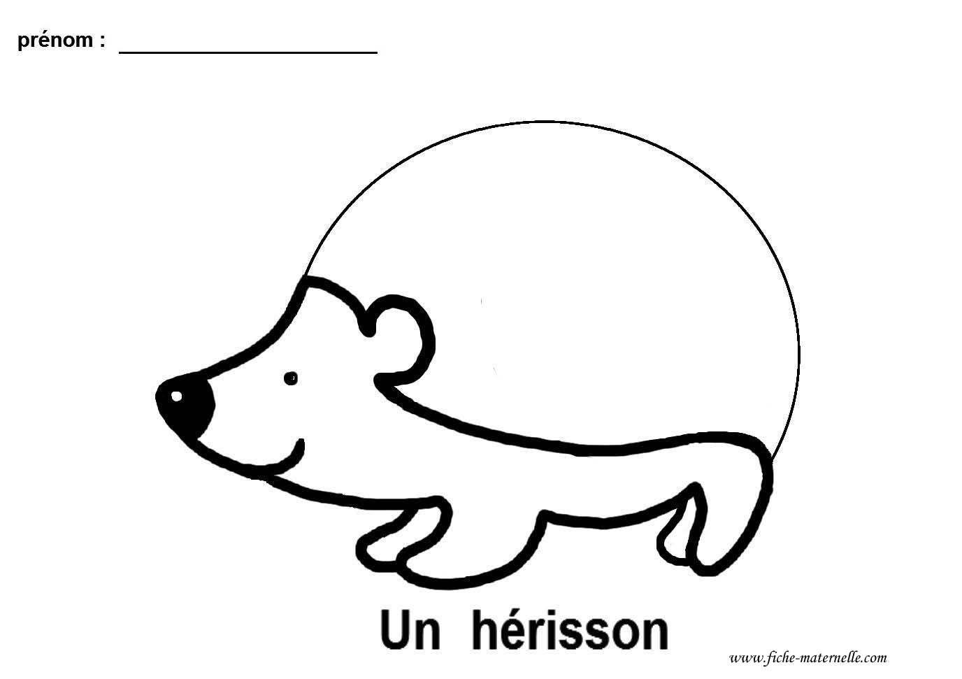 Coloriage Fevrier Ms Gs.Graphisme Gs Et Ms Le Herisson Lignes Brisees Patterns And