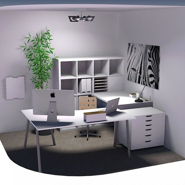Office Layout Study For 10' X 10' Space On Behance