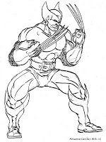 Wolverine Dengan Gambar Halaman Mewarnai Buku Mewarnai Gambar