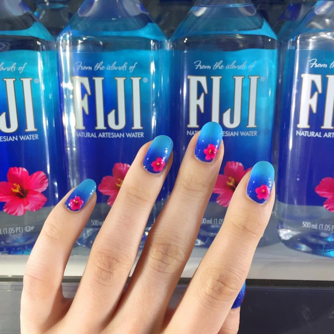 Pin By Honey On Nails In 2019 Water Nails Fiji Water