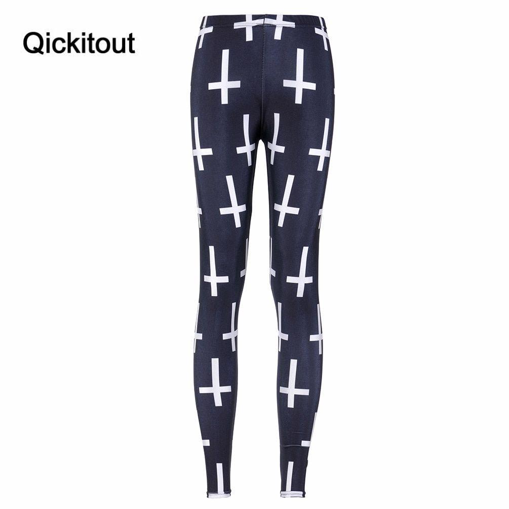 24887ea5e6079 Slim Women Cross Black Leggings MILK Printed Leggings Fitness Best Quality