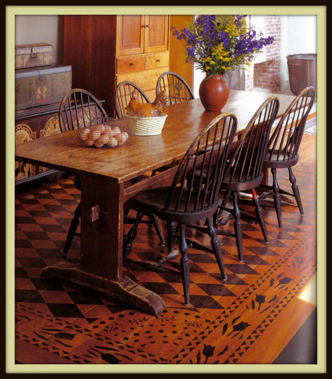 beautiful stenciled floor. Stencils sold at The Heart of Newburgh ...
