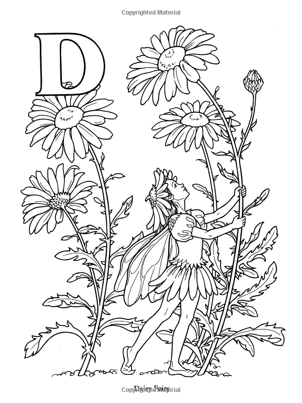 Garden Fairy Alphabet Coloring Book: Darcy May