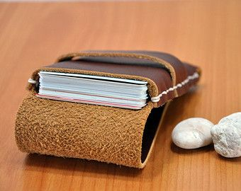 Leather Flap Leather Business Card Holder Card Holder Leather Leather Business Cards