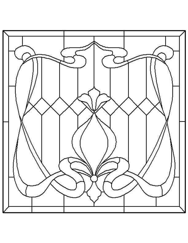 simple stained glass designs